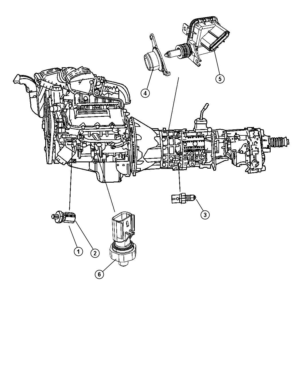 Dodge Ram 1500 Switch. Neutral safety, back up, neutral