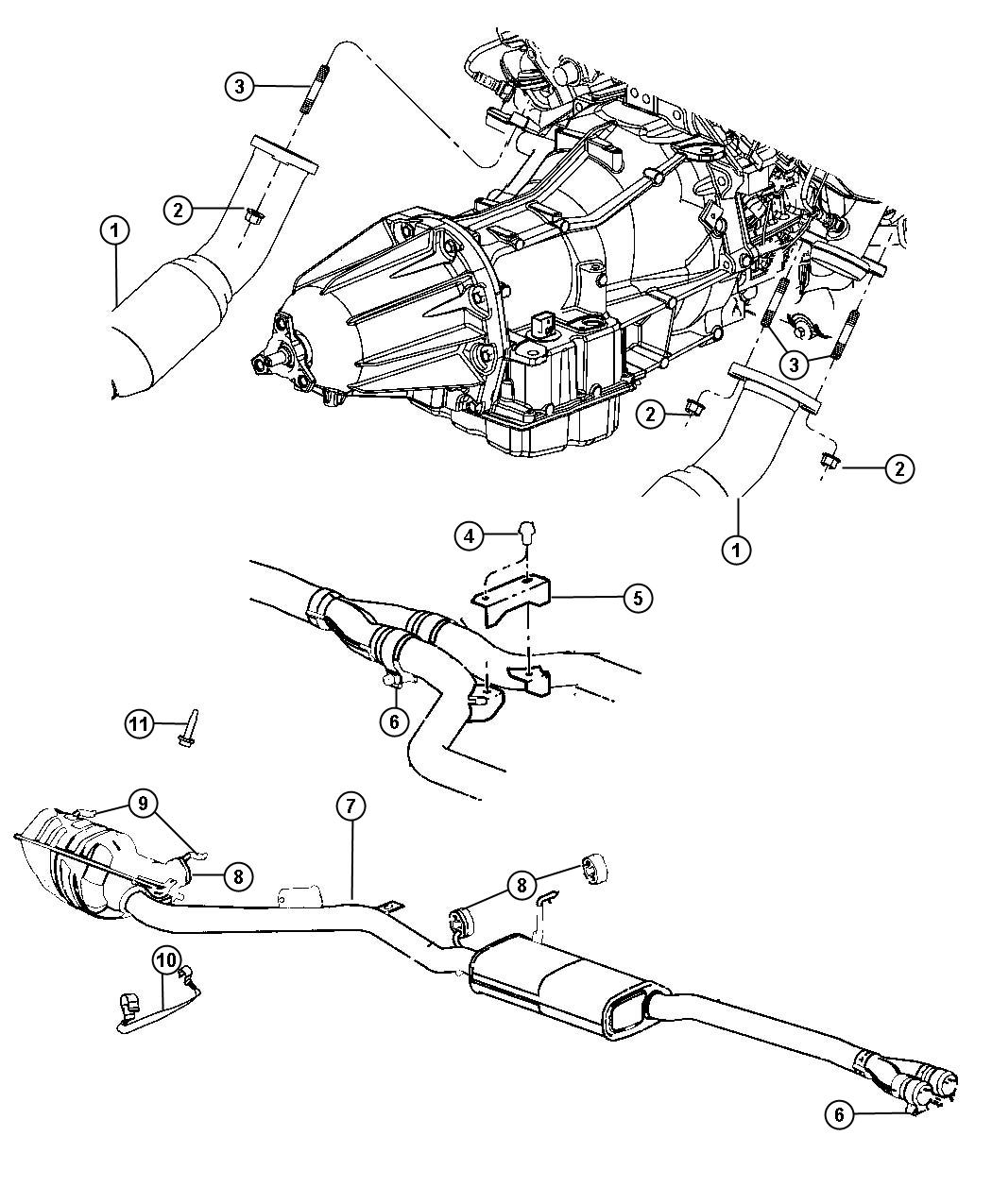 Dodge Challenger Converter, used for: pipe and converter