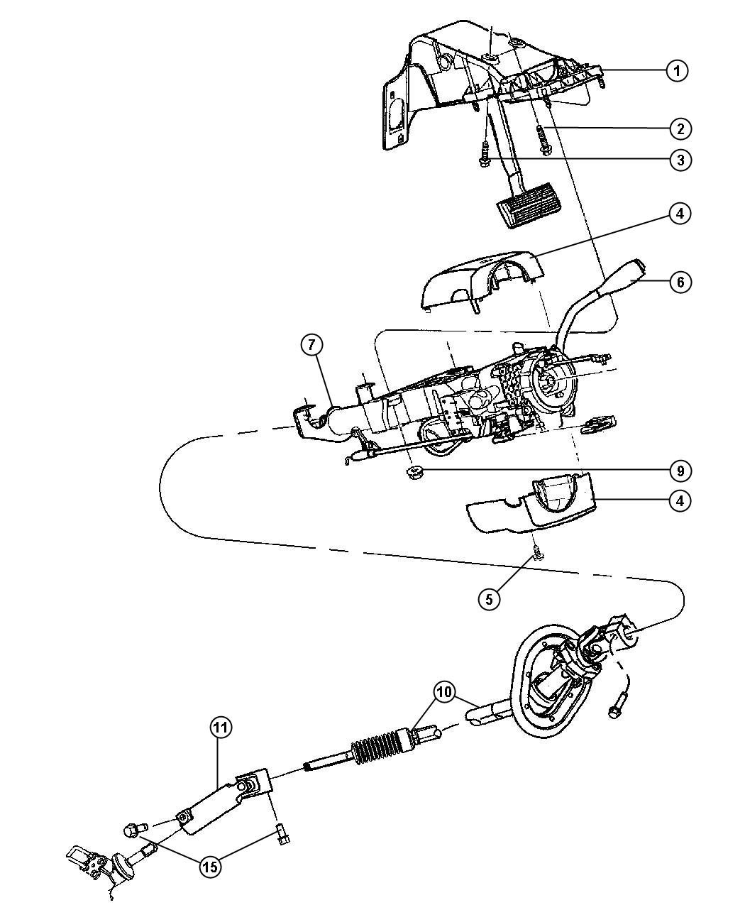 2010 Dodge Ram 2500 Hardware package. Steering column