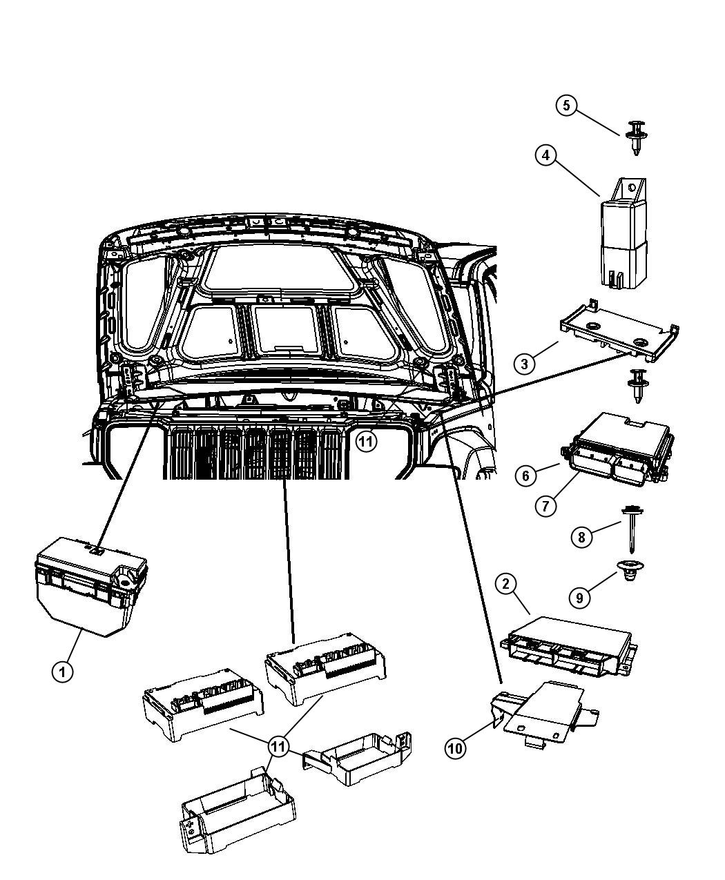 2010 Jeep Liberty Module. Totally integrated power
