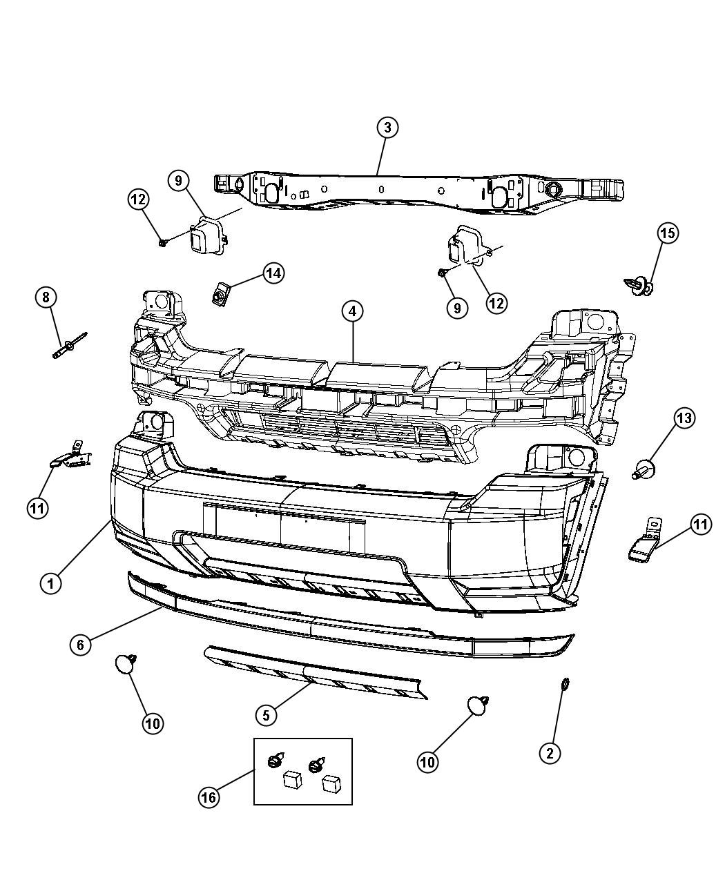 Jeep Liberty Crossmember Front Support Front Bumper