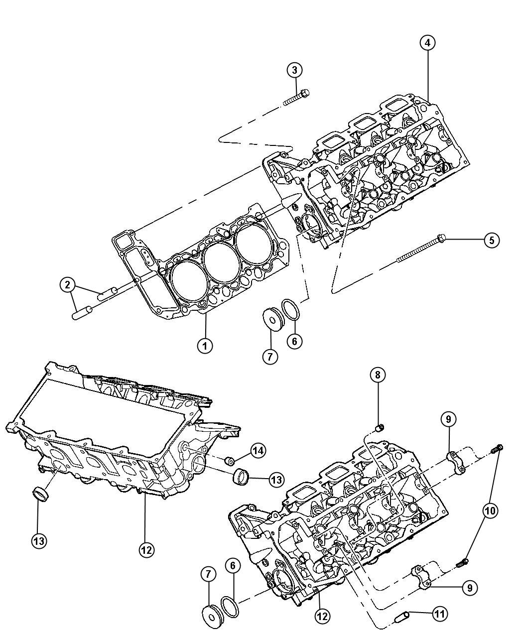 2012 Jeep Liberty Gasket. Cylinder head. Left. Right or