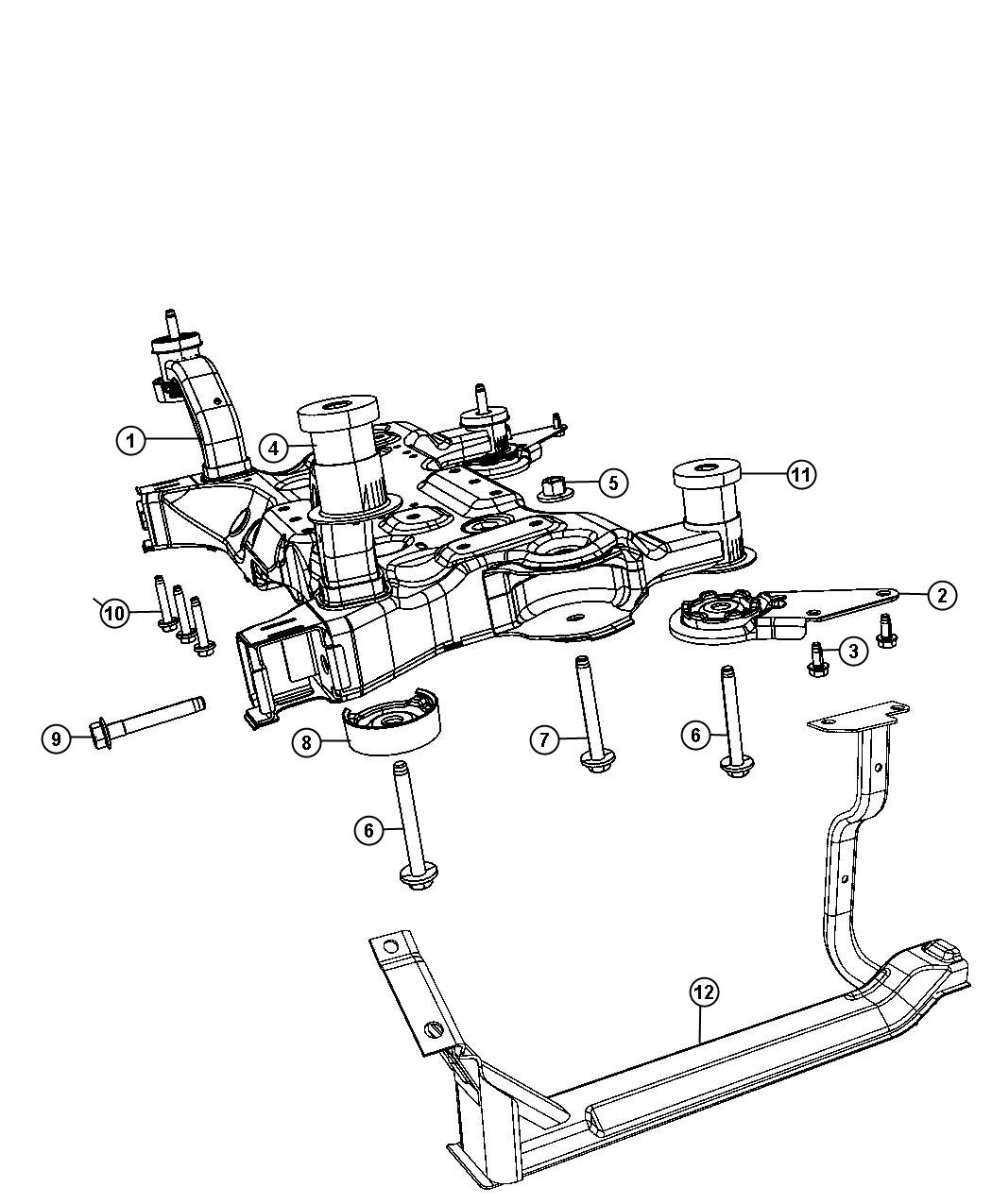 Dodge Journey Crossmember Front Frame Front Suspension