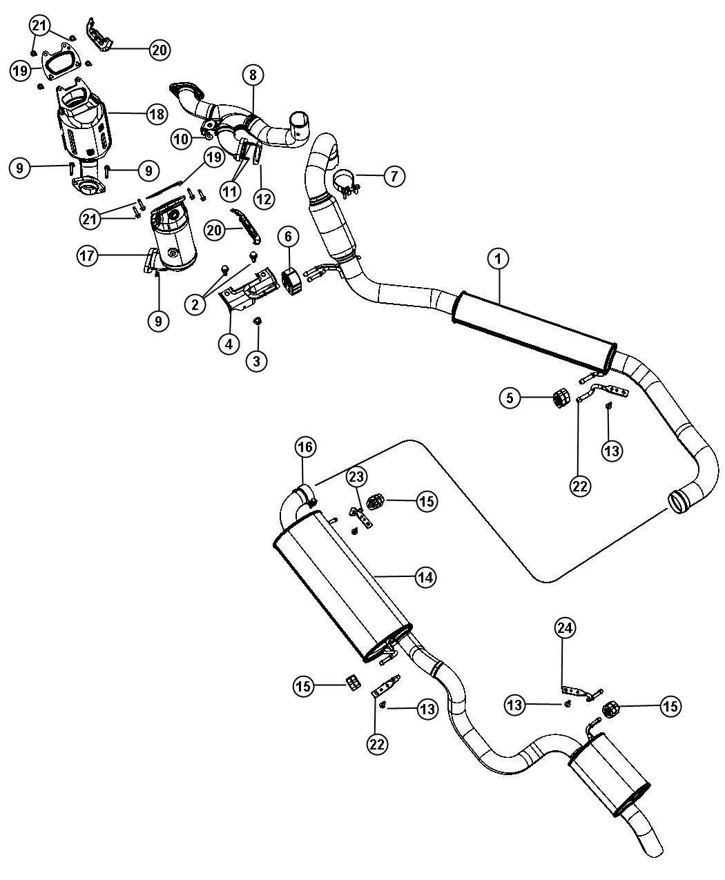 Chrysler Town Amp Country Converter Exhaust Crossunder