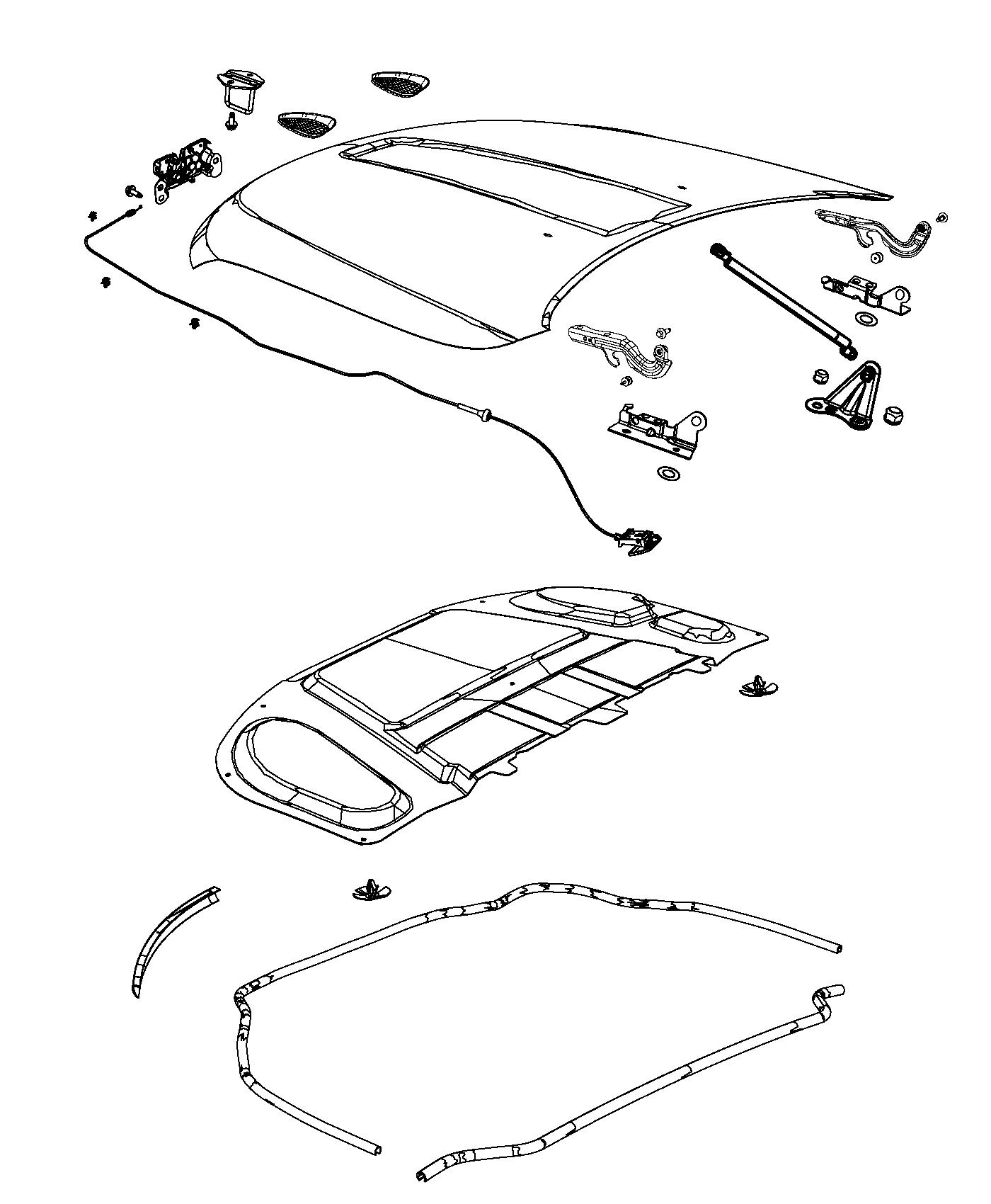 2014 Jeep Grand Cherokee Latch. Hood. Start, front, end