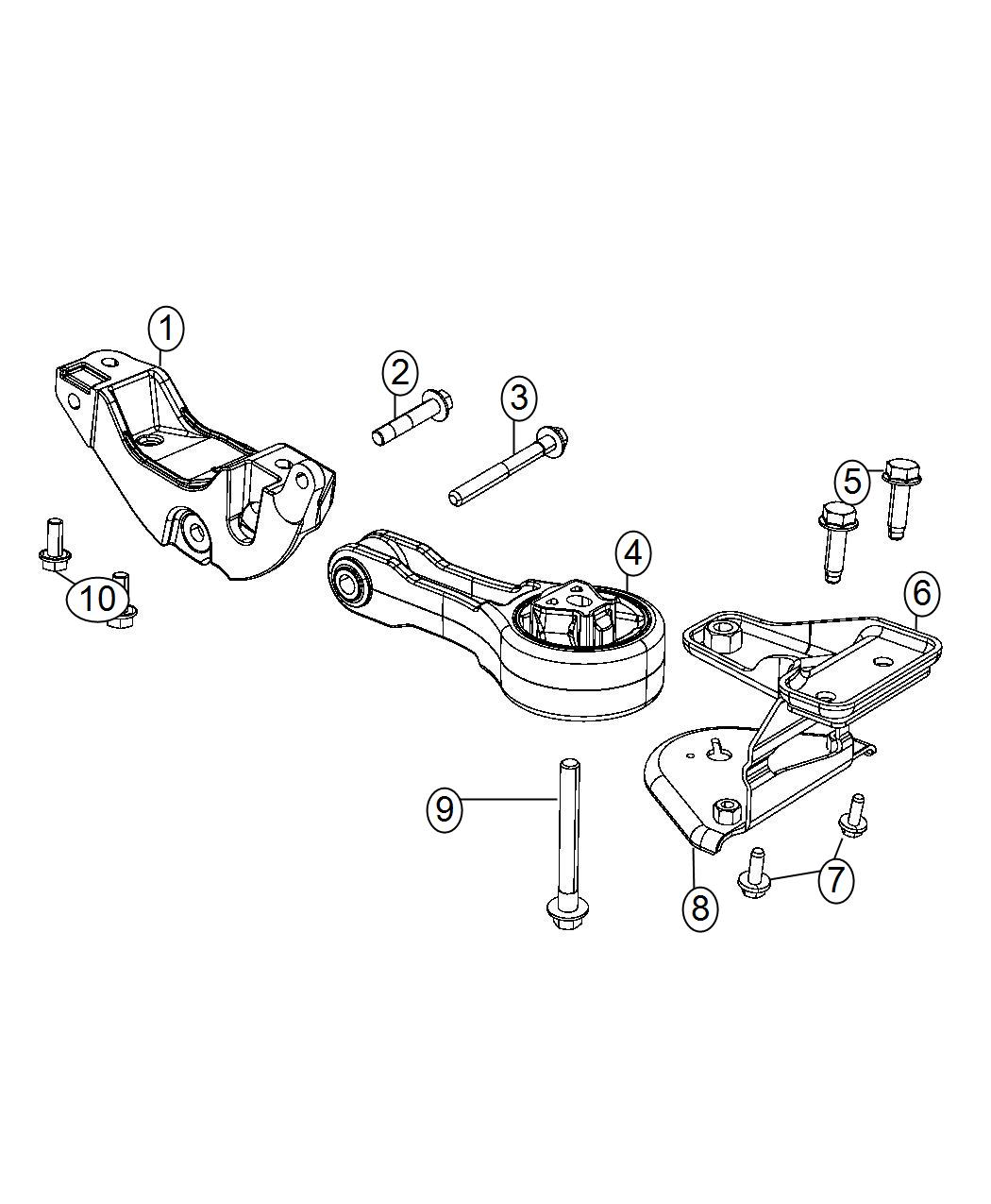 Chrysler 200 Engine Mount Rear Fwd Mounting