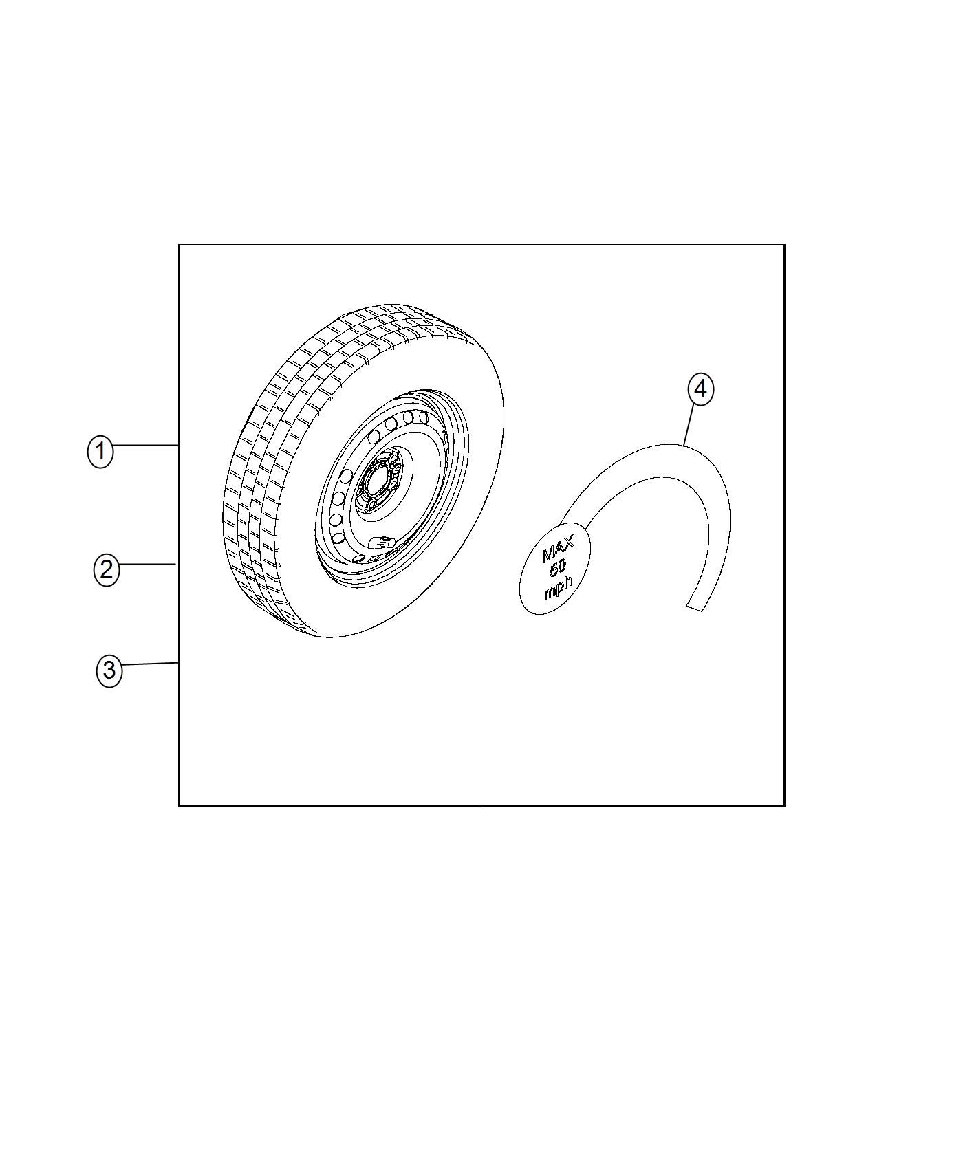 Jeep Renegade Used For Tire And Wheel Assy Compact