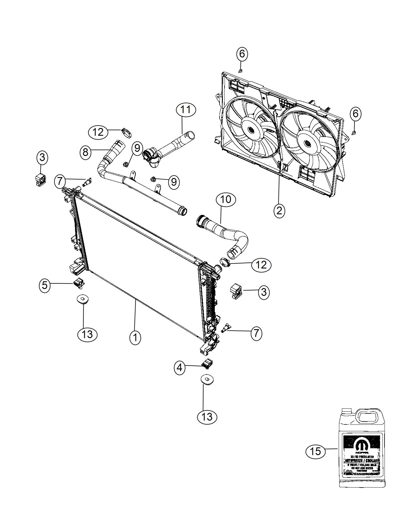 Jeep Cherokee Used For Hose And Clamp Radiator Inlet