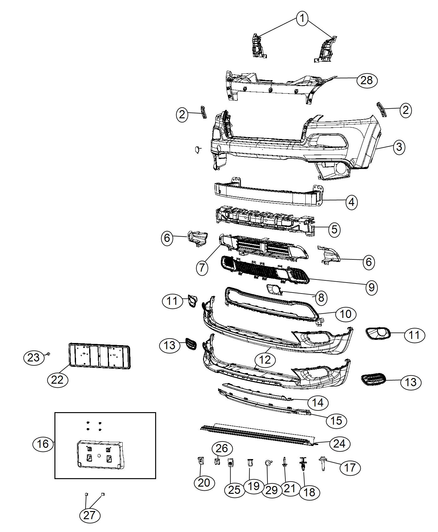 Jeep Cherokee Grille Active Shutter Front Shutters