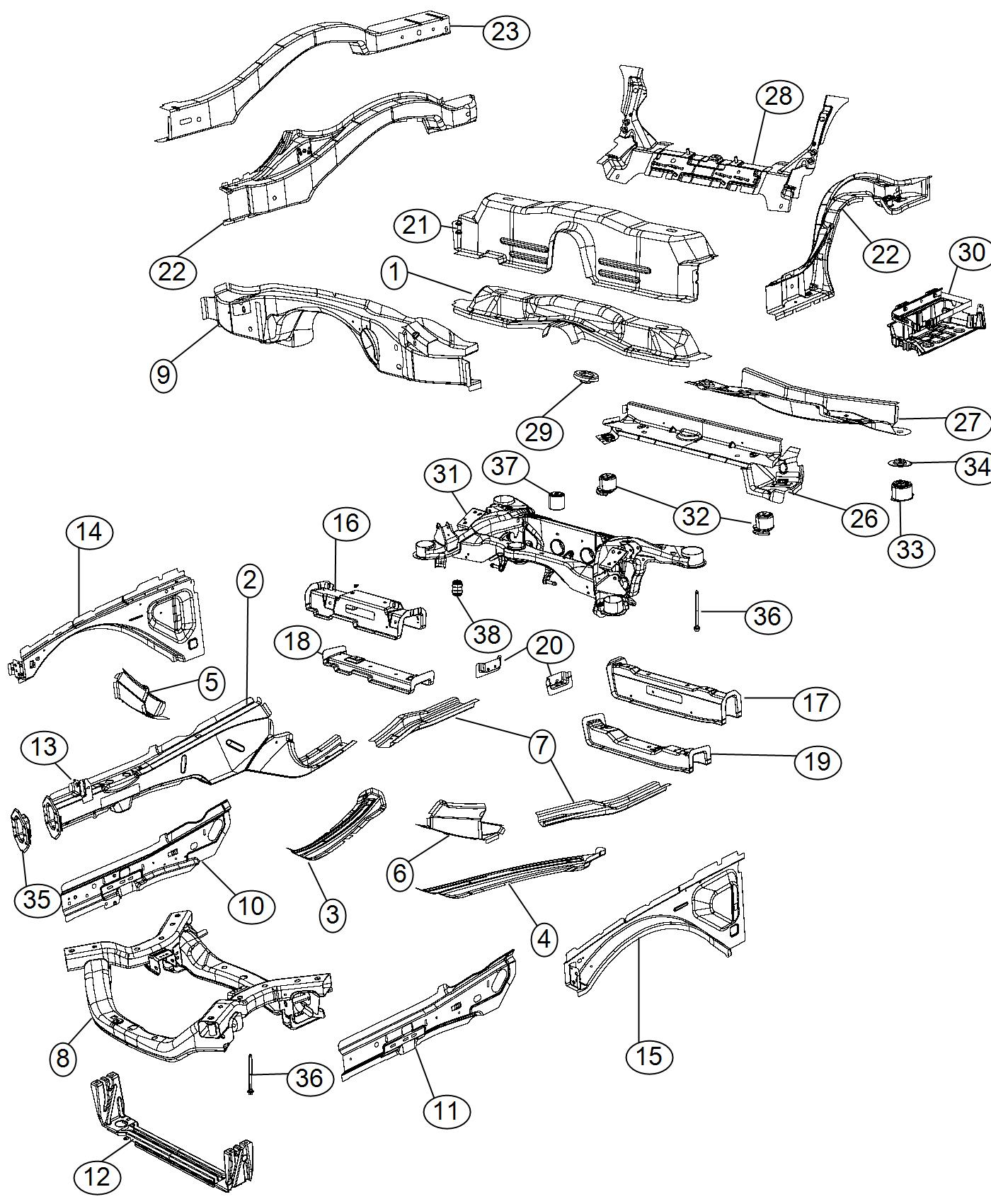 Dodge Challenger Subframe Rear Axle Suspension