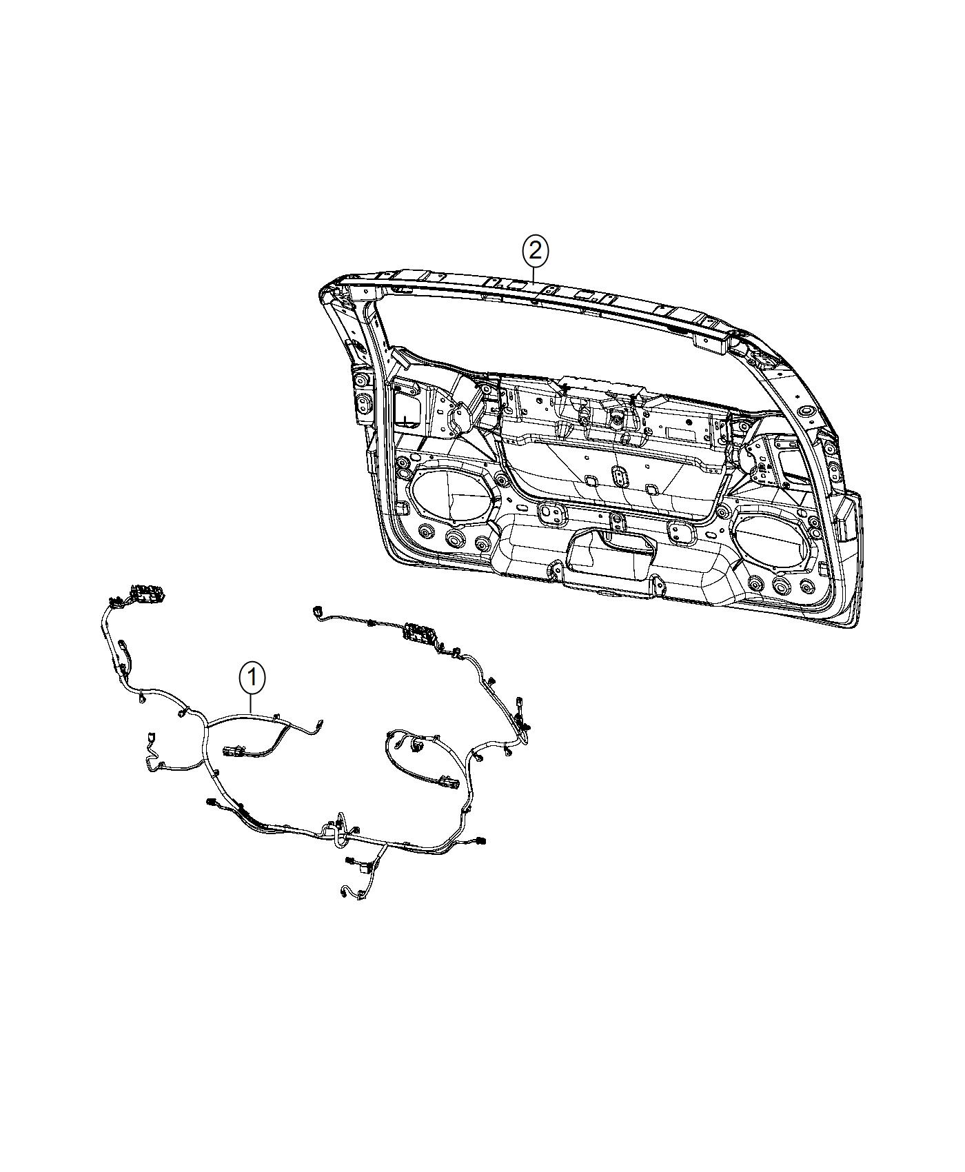 2017 Chrysler Pacifica Wiring. Liftgate. Tail, stop