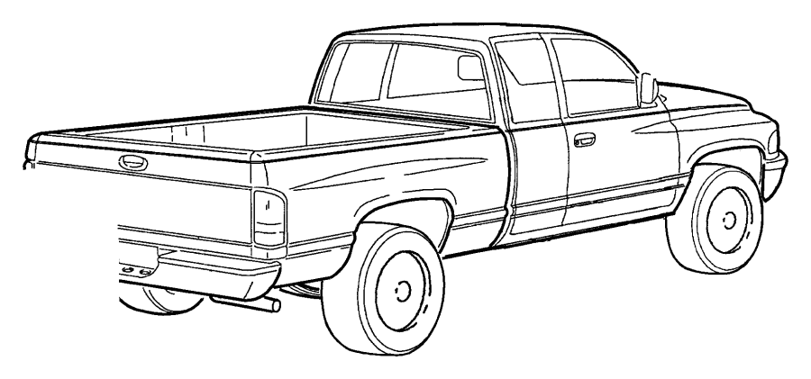 1998 Dodge Ram 1500 Decal. 4 x 4, sport. Tailgate. Color