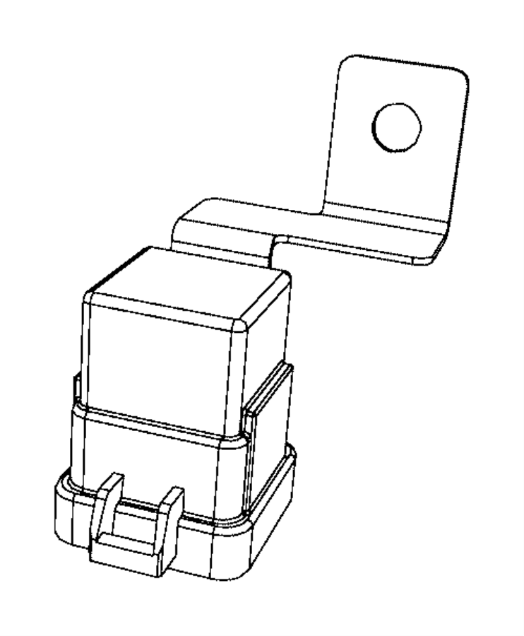 Dodge Ram 1500 Relay. External to pdc, with bracket