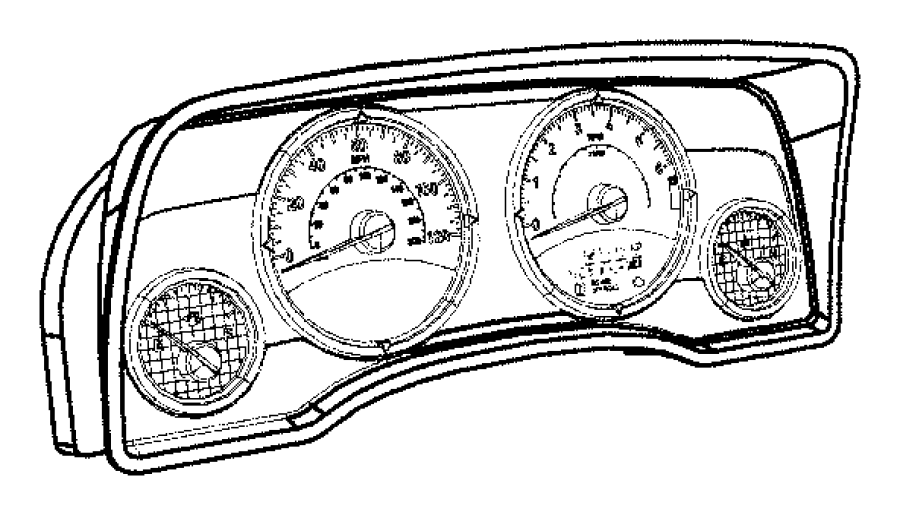 Jeep Compass Cluster. Instrument panel. [[240 kph primary