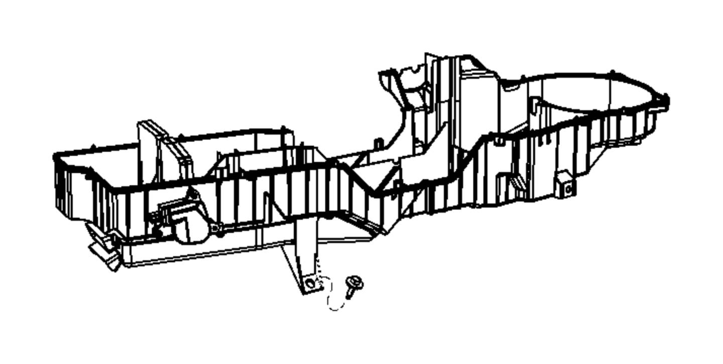 Dodge Ram 2500 Housing. A/c and heater lower. Air, zone