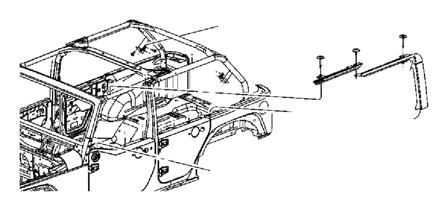 2013 Jeep Wrangler Bracket. Used for: soft top bow 1 and 4