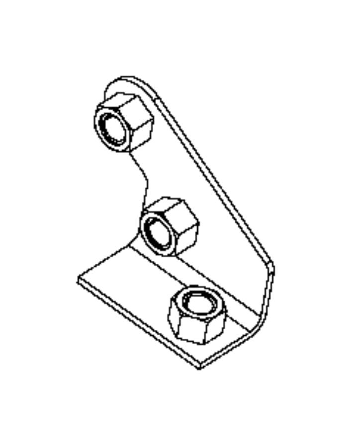 Jeep Wrangler Tapping plate. Right. Tow, front, eye