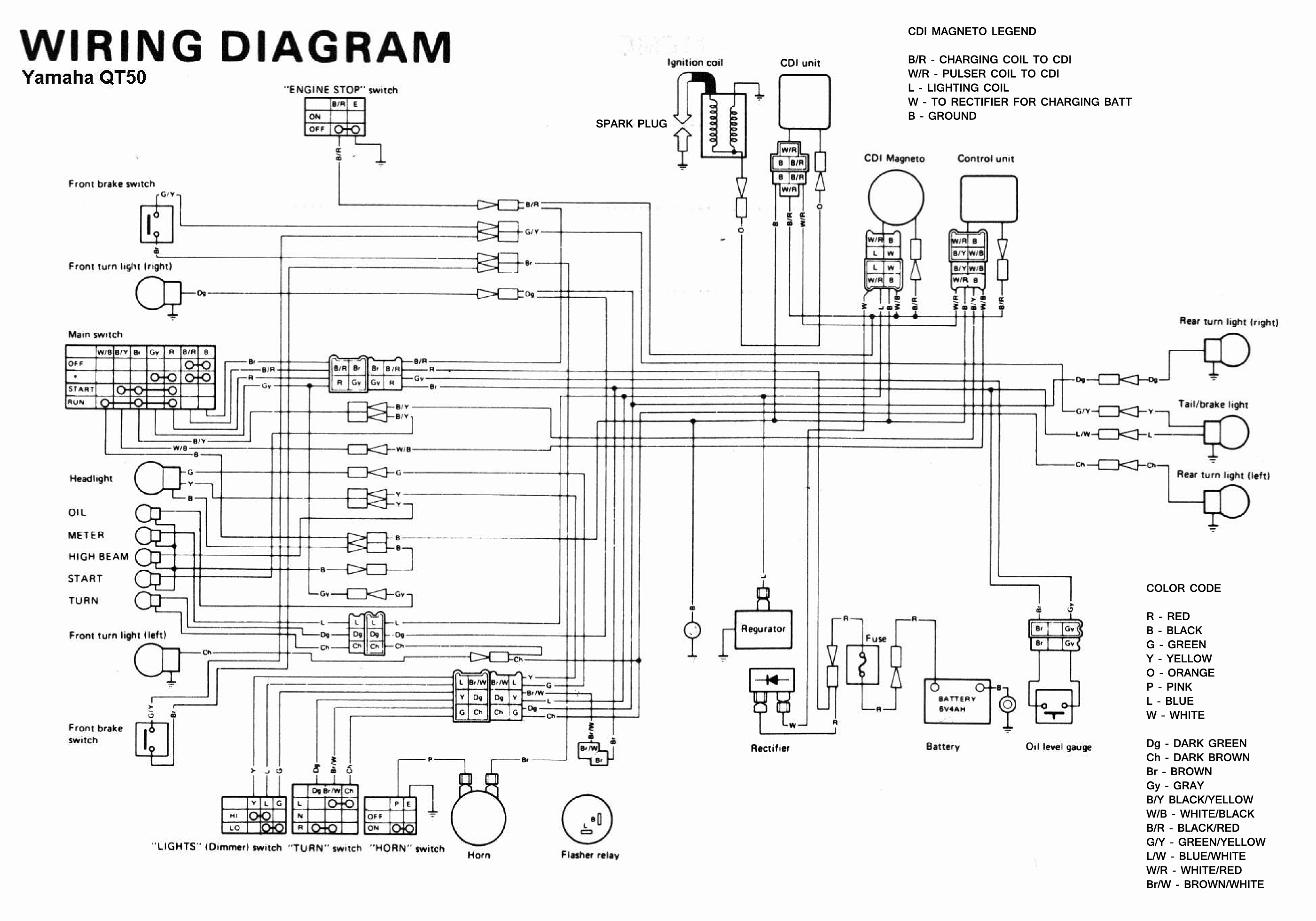 yamaha 350 warrior wiring diagram painless diagrams free atv