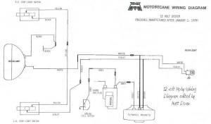 new hardwiring diagram for 12v Motobecane