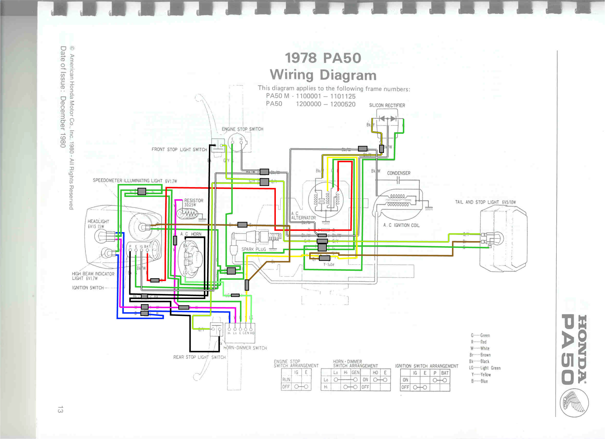scooter cdi wiring diagram for half switched outlet honda hobbit moped get free