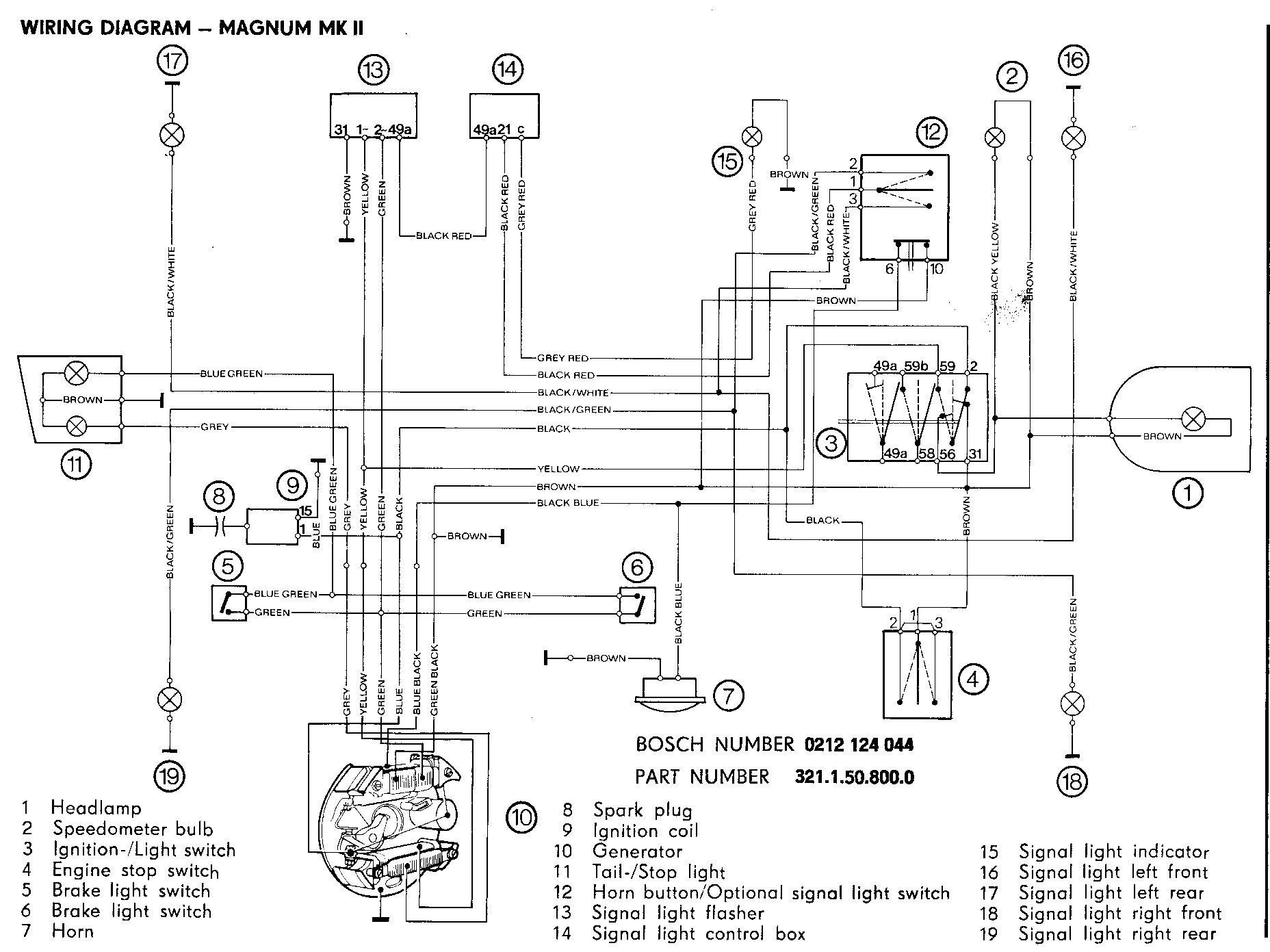 moped turn signal wiring diagram