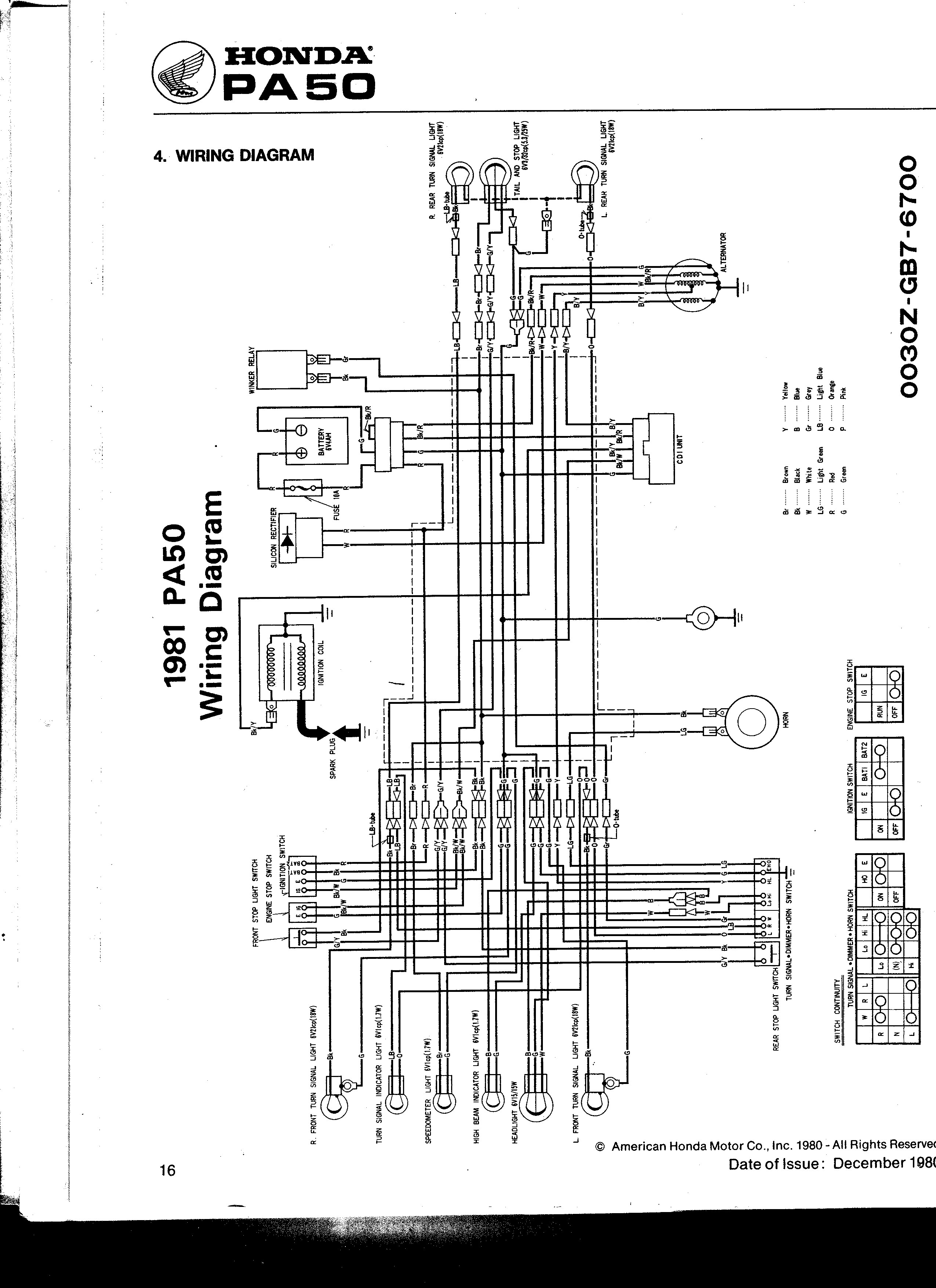 Re: 83 Honda PA50II / Hobbit CDI Schematic [by silverfox