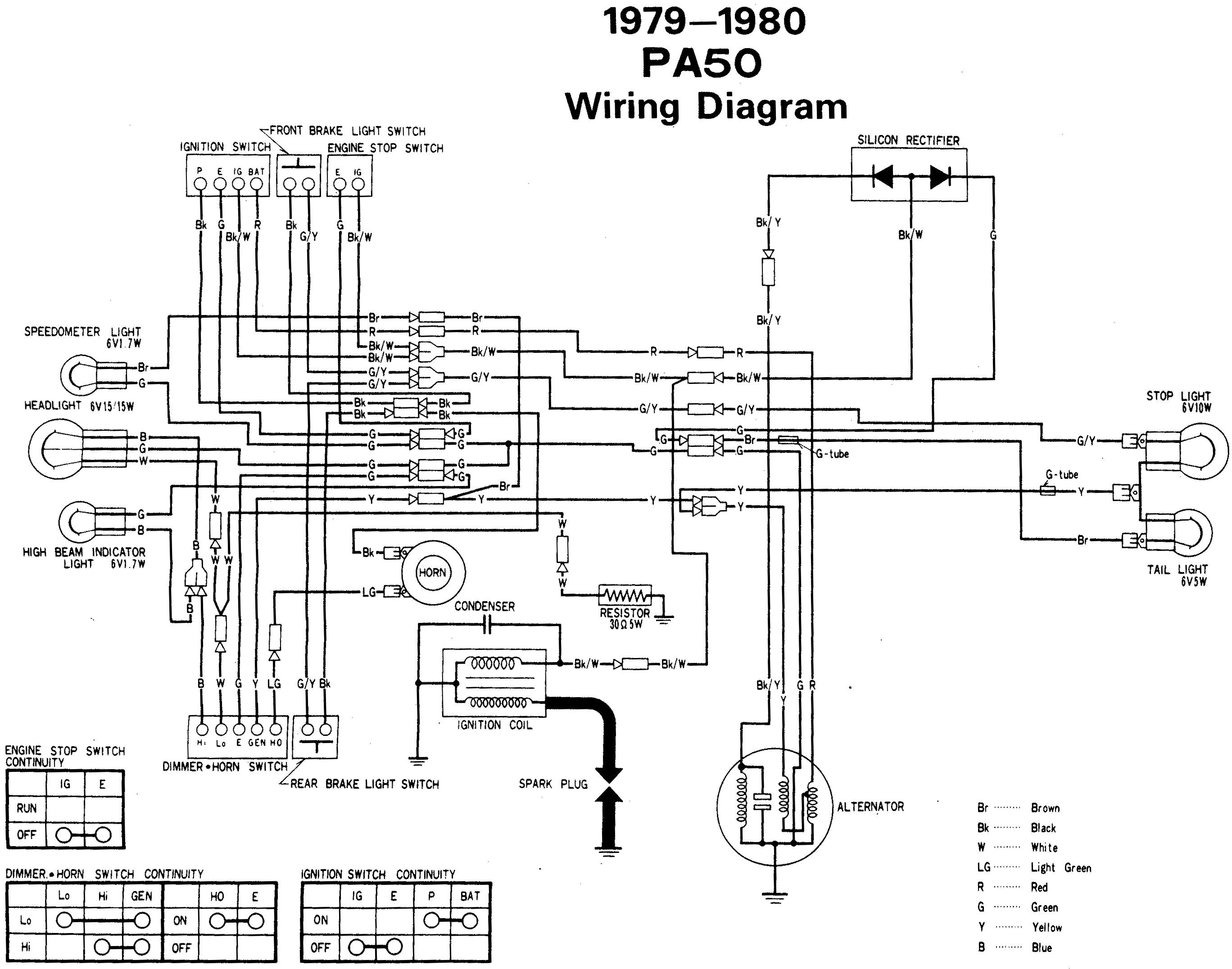 wiring diagram honda pa 50