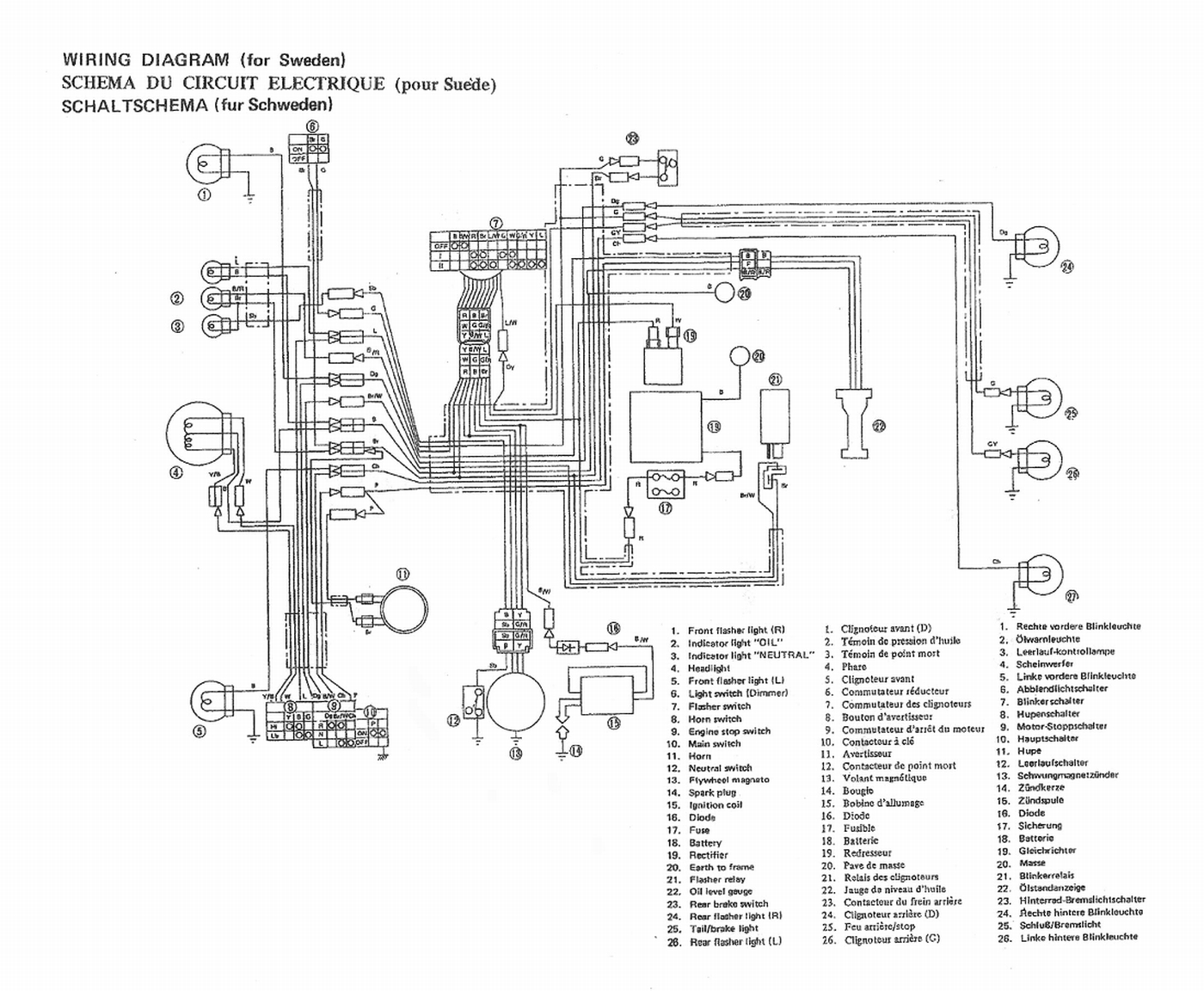 50cc moped wiring diagram schematic