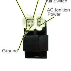 6 Pin Ac Cdi Box Wiring Diagram Way Extension Lead 3m Hobbit Moped Wiki These Are Common And Cheap For Most Modern Scooters But Should Also Work You Some Incompatibilities Differences May Apply Dc Powered