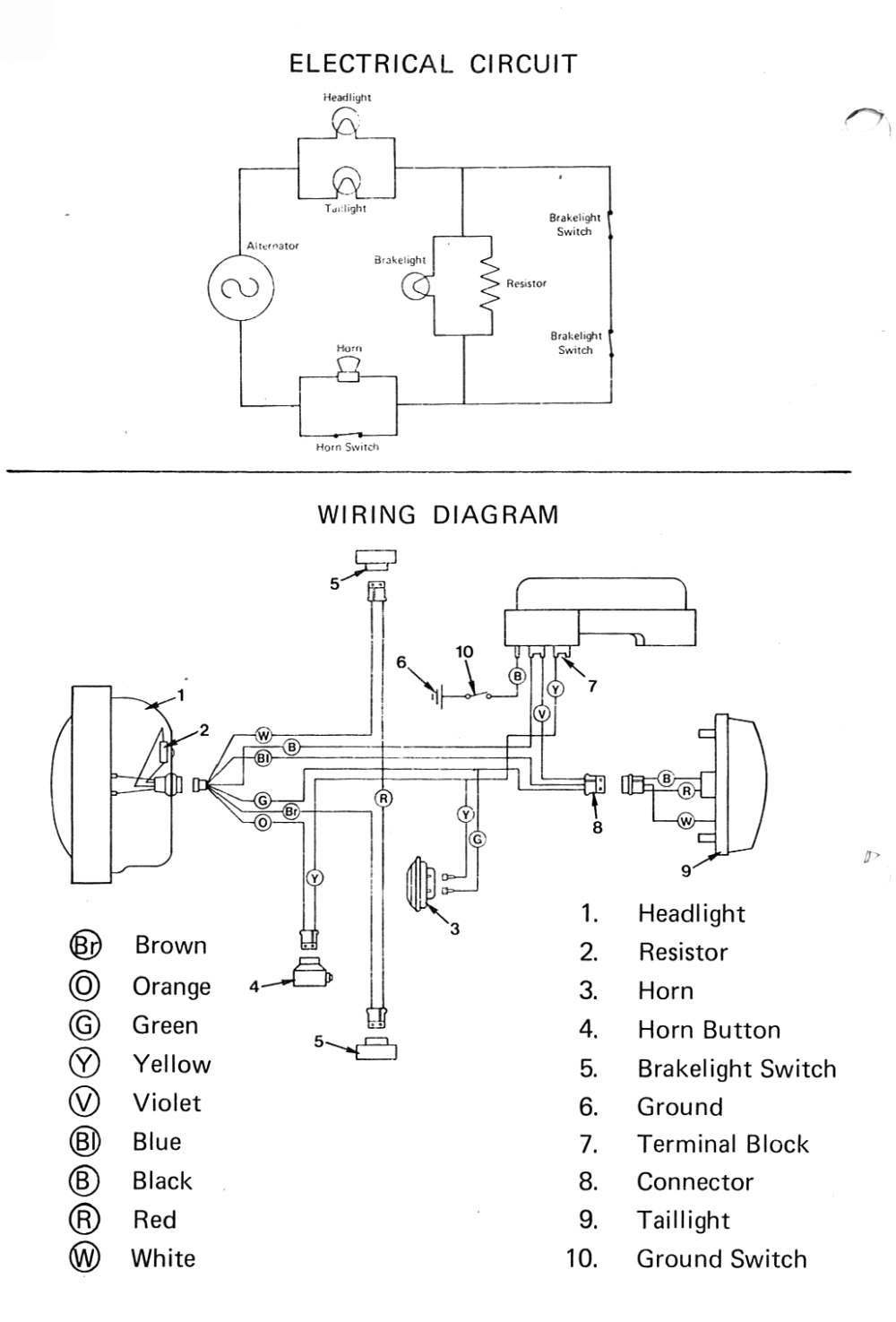 medium resolution of 1984 honda moped wiring diagram wiring diagram centre 1984 honda ct110 wiring diagram 1984 honda moped