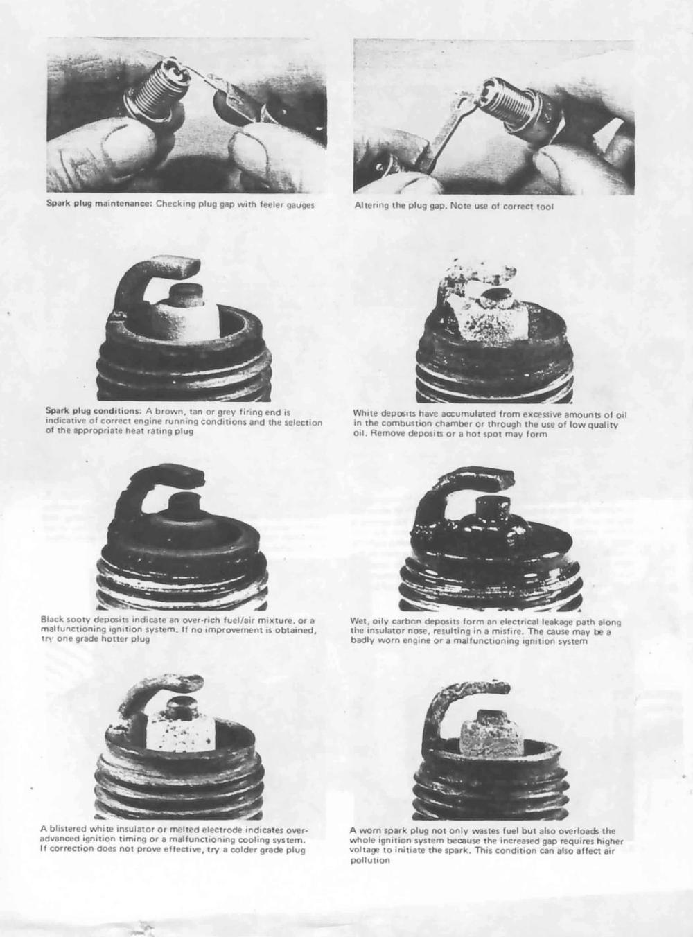medium resolution of condition of spark plug plug