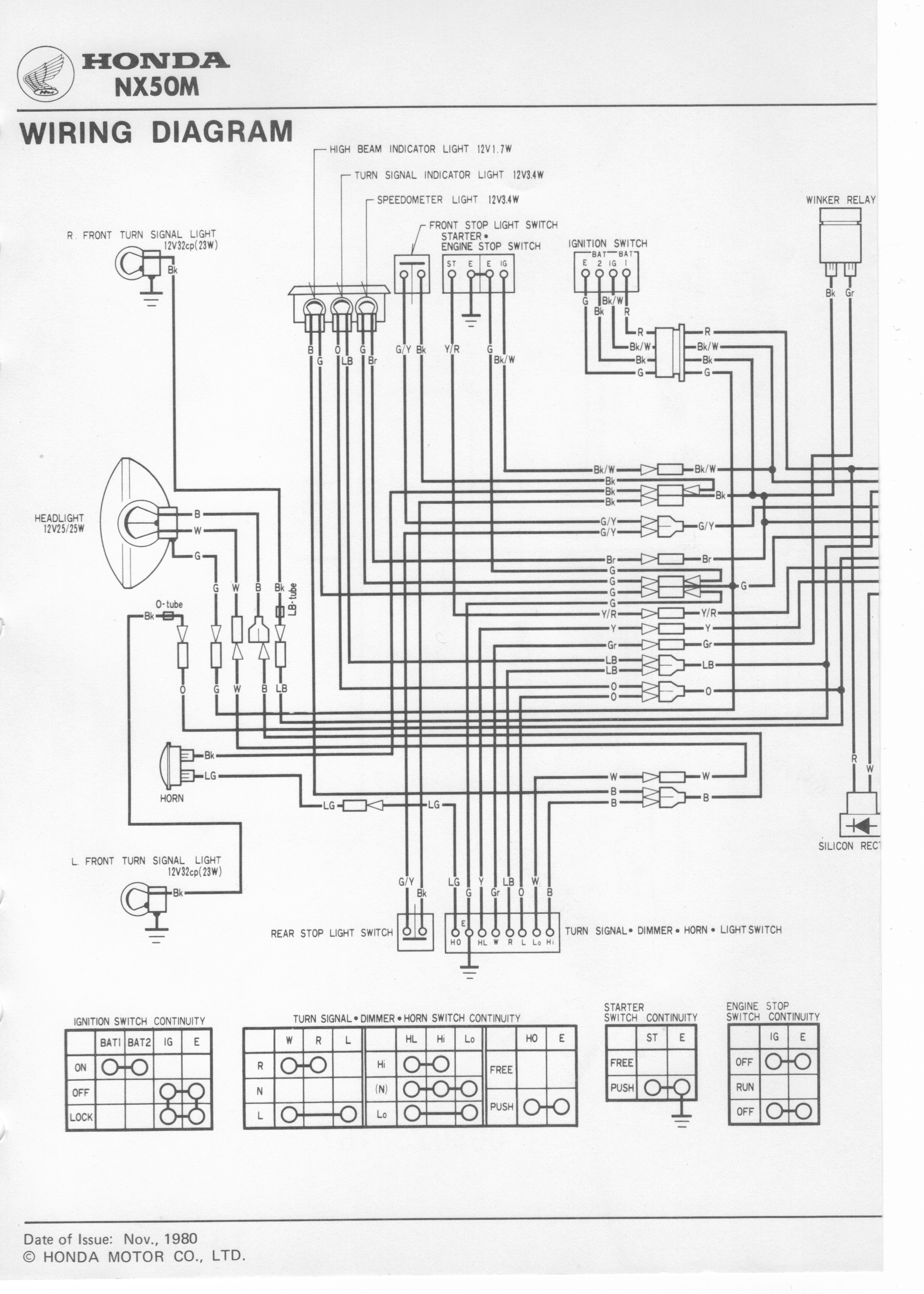 1982 honda gl1100 wiring diagram fire pump nu50m gl650i