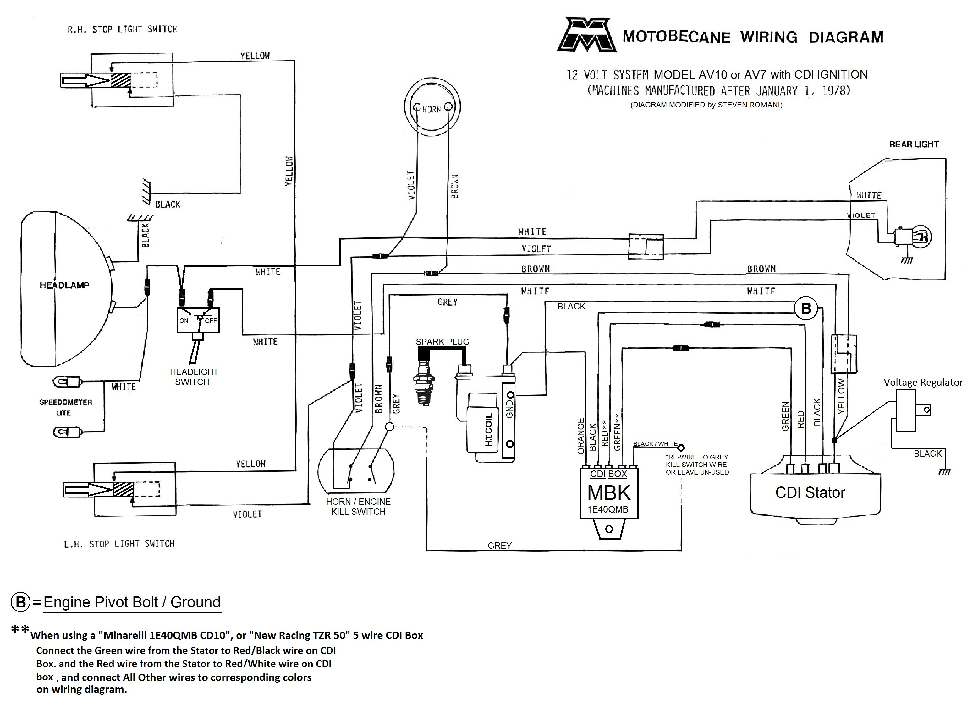 Pleasing Imagemotobecane12V Wiring Diagram Basic Electronics Wiring Diagram Wiring 101 Kniepimsautoservicenl