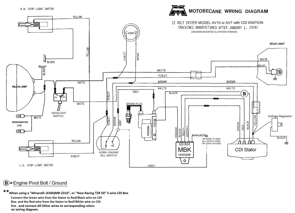 medium resolution of  motobecane 12v cdi wiring diagram av10 and av7 jpg