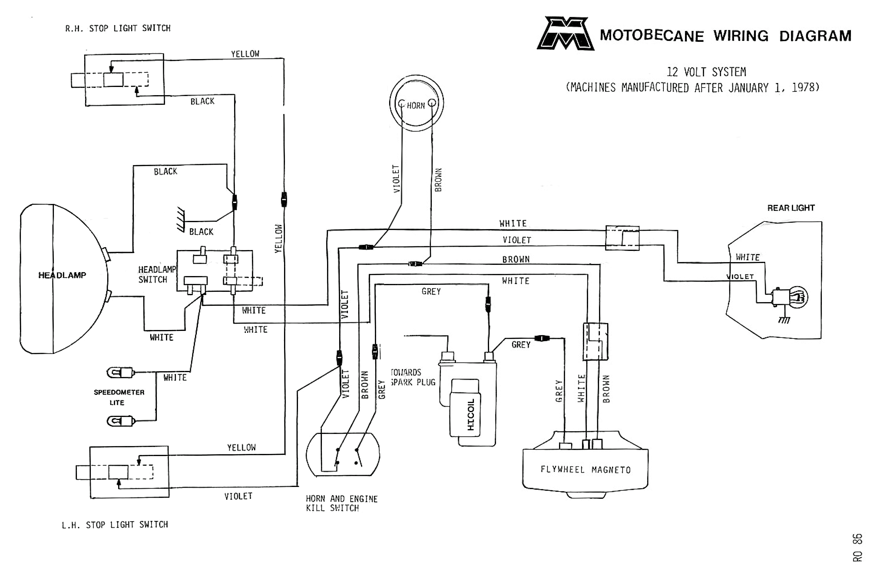 wiring connection diagram 5 pin trailer motobecane diagrams moped wiki