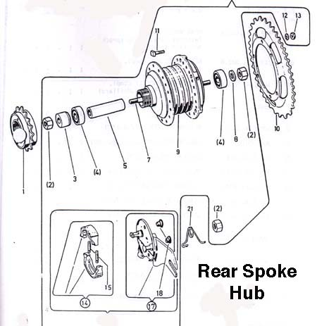 puch rear wheels & parts (6 Subcategories)