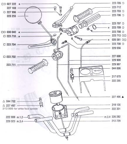 tomos throttle and brake controls (5 Subcategories)
