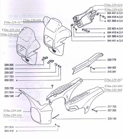 TOMOS fairings, side covers & hardware (8 Subcategories)