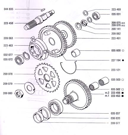 A35/A55 tomos transmission (4 Subcategories)