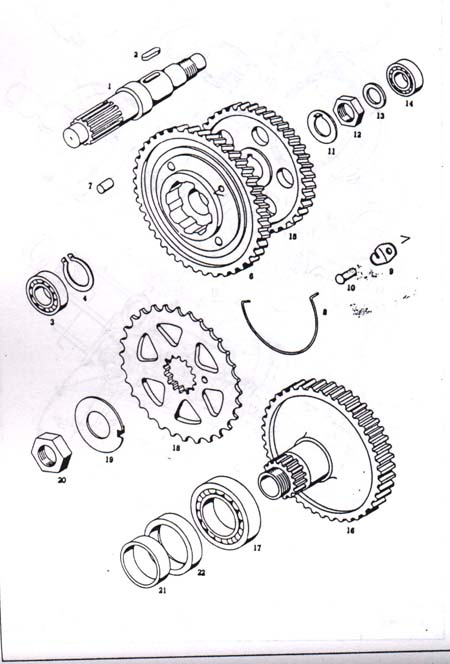 Diagram Reference #T6b-TOMOS A3 Transmission Gears