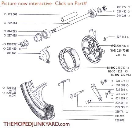 TOMOS front wheels & parts (6 Subcategories)