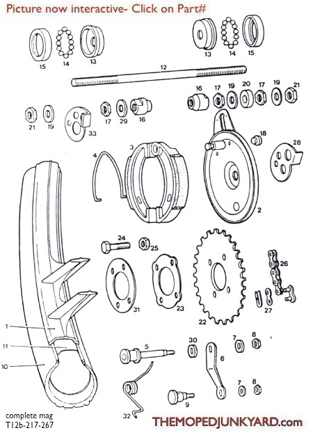TOMOS rear wheel & parts (7 Subcategories)