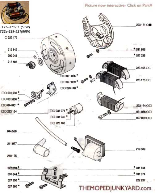 TOMOS Iskra cdi ignition & std ignition (4 Subcategories)