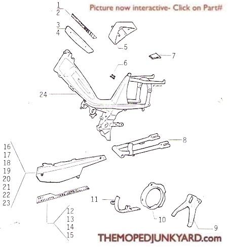 Motobecane frame parts continued Ref. Diagram MB10e
