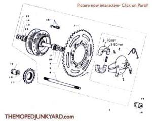 Motobecane Rear Hub Ref Diagram MB11b
