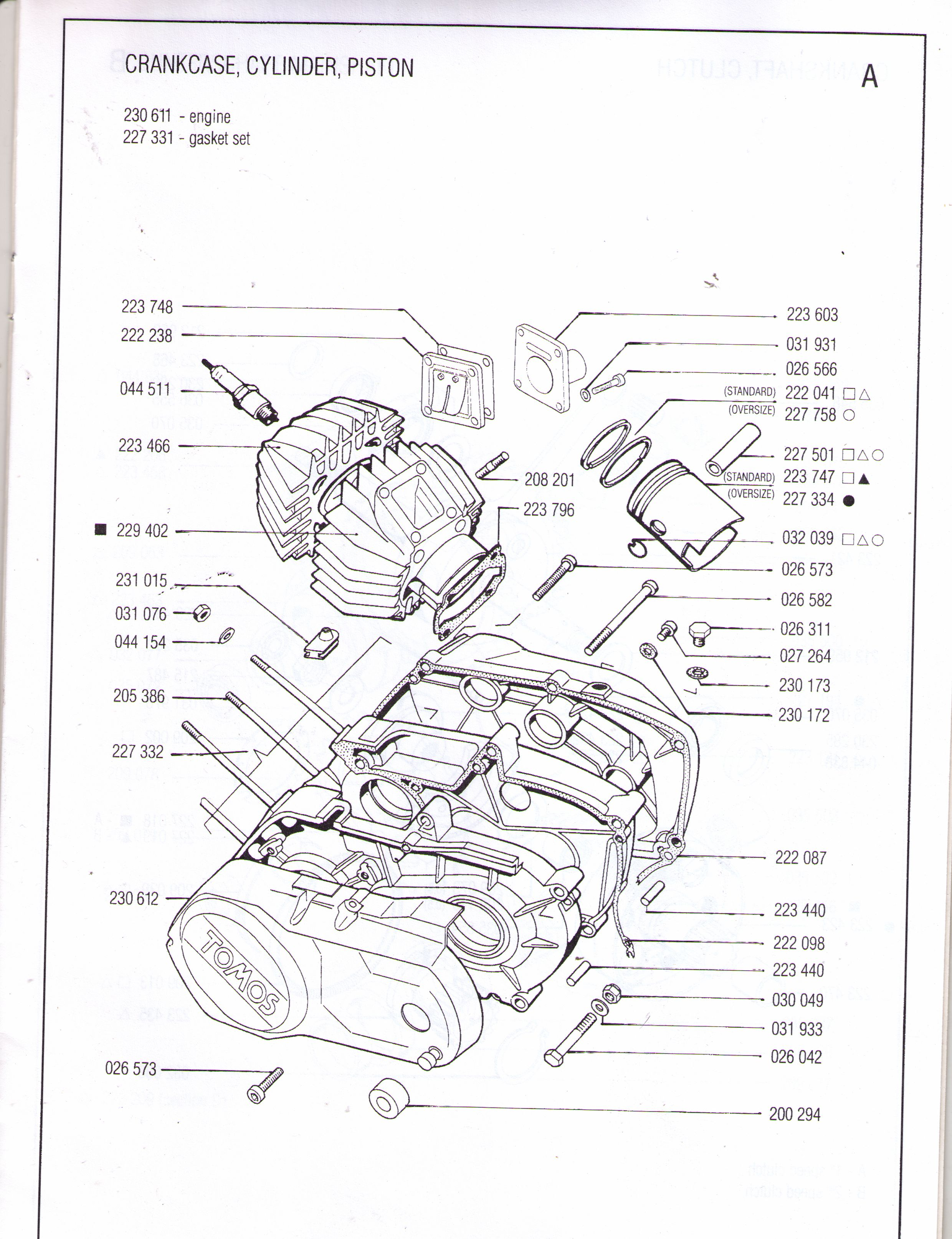[WRG-4671] Tomos Engine Diagram