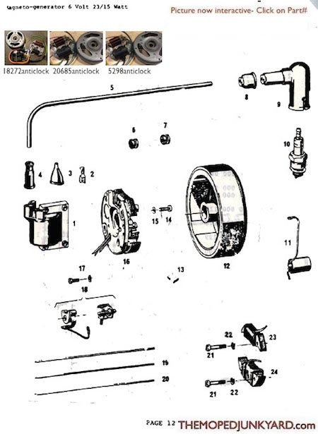 Sachs 6V 23-15 watt Ignition