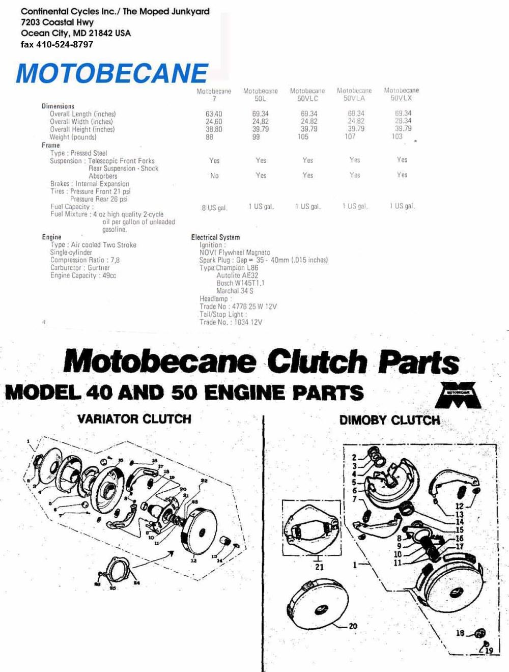 medium resolution of motobecane wiring diagram