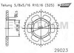 Kettenrad sprocket 41 Z. Sachs Roadster 650