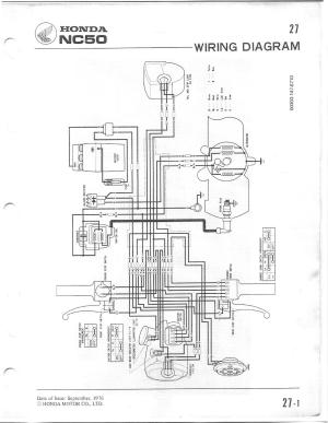 Honda Express II NA50 Questions  Wiring | Scooter Doc Forum